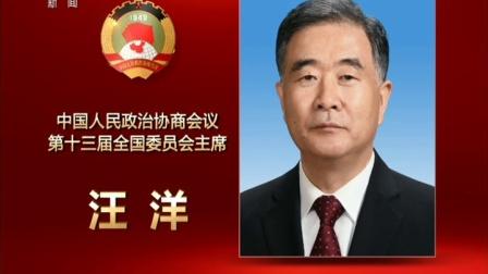 中国人民政治协商会议第十三届全国委员会主席汪洋同志简历