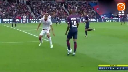足球巨星: 内马尔再现神级停球, 整个球场都是他的了, 太霸气了