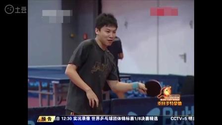 国乒训练, 三个陪练全是世界冠军, 外国人一脸羡慕的盯着马龙和张继科