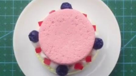 童话城堡水果蛋糕,纸粘土制作的异常诱人蛋糕,粘土甜品美食模型
