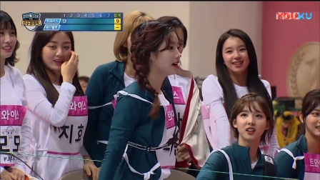 180215 偶像运动会 新春特辑 TWICE 金多贤 VS Red Velvet(红色天鹅绒) 康瑟琪(姜涩琪) 射箭比赛