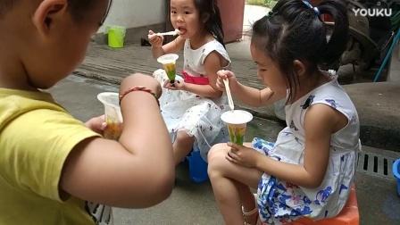 儿童小吃货姐妹吃冰淇淋 粉红猪小妹 自私的小乔治