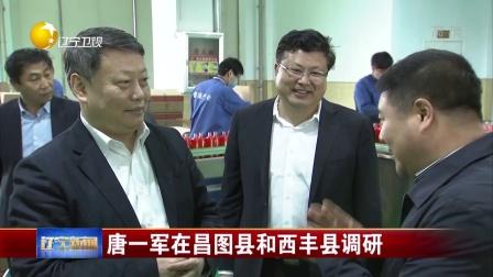 辽宁新闻 2018 唐一军在昌图县和西丰县调研