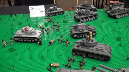 乐高二战 坦克大战场景