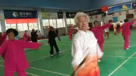 云南抒怀剑队庆祝抒怀剑推向社会28周年表演《一剪梅》