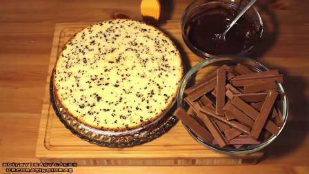 精美蛋糕制作 美味巧克力豆蛋糕