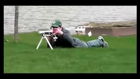 大神用水管自制空气动力狙击步枪!威力不谈这准头没话说