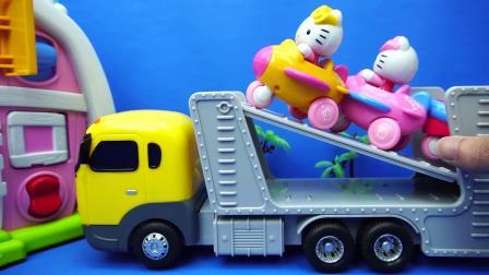 玩乐三分钟 HelloKitty 游艇和小飞机 玩具 凯蒂猫