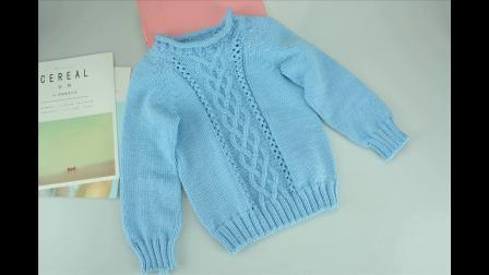 [AD052]【蓝藤】从下往上织圆领毛衣毛线的织法视频全集