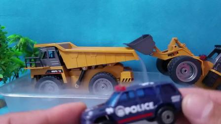 拆封汽车总动员玩具车工程车挖掘机