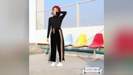 FAVECIROS 品牌宽松阔腿裤 模特展示