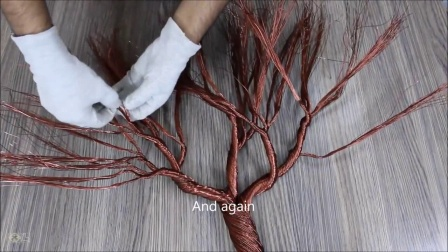 制作被秋风吹的丝线树