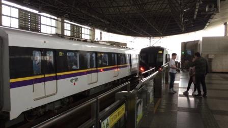 实拍上海地铁三号线不停站列车通过赤峰路站
