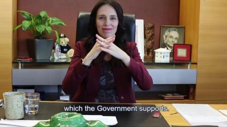 新西兰总理用手语支持新西兰手语周
