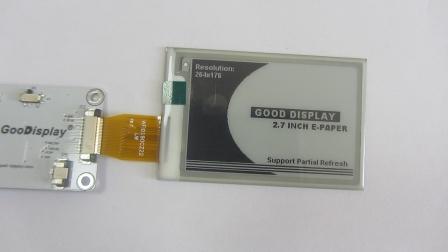 2.7寸电子纸显示屏 电子纸显示屏支持部分刷新演示