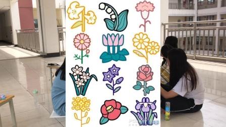 小班绘画《美丽的花朵》