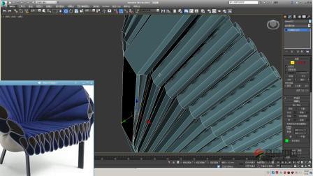 扇形椅建模技巧