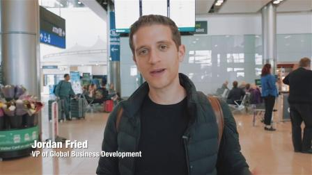 Jordan arrives in Ireland for the Dublin Tech Summit