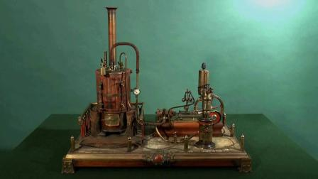 Lot 202 Steam Engine Plant with Crosby Steam Engine Indicato
