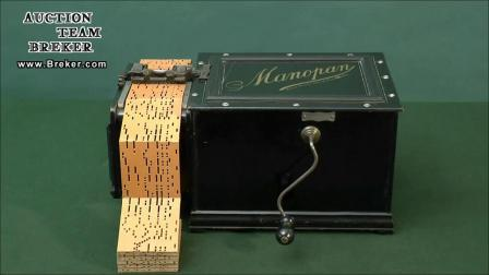 Lot 839 24-Key Manopan German Reed Organette, 1899 - YouTube