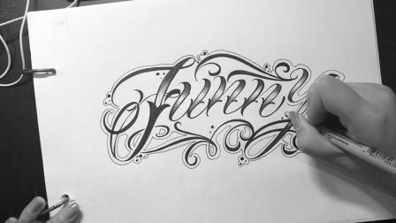 花体字设计,你想要一款属于自己的奇卡诺字体吗