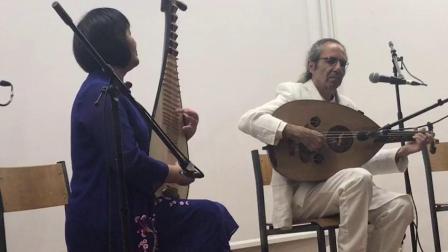 琵琶演奏家高虹与以色列乌德琴大师在葡萄牙里斯本现场即兴表演