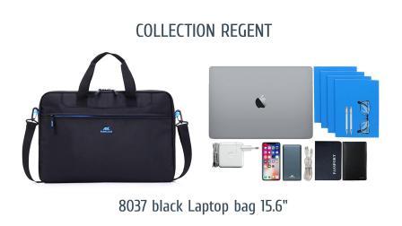 "RIVACASE 8037 black Laptop bag 15.6"""