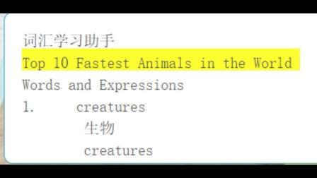 词33-Top 10 Fastest Animals in the World