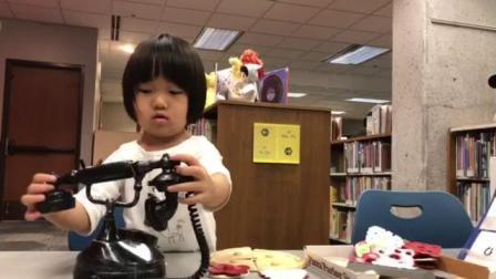 20180522爱玛4岁—在曼哈顿图书馆玩披萨玩具