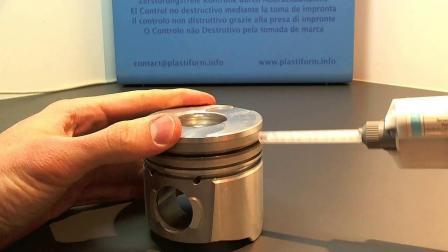 法国PLASTIFORM打模胶(P25) 复制胶应用之矩形沟槽测量