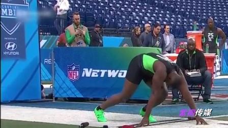 """太尷尬!美國運動員短跑時""""要害部位""""從褲中甩出"""