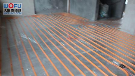 别墅中央空调风机盘管安装地埋管铺设 青岛沃富地源热泵