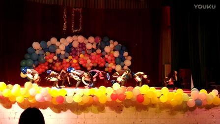 河池学院街舞协会十周年狂欢夜《啦啦操》