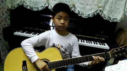 双江小学四年级学生吉他弹唱《宁夏》(指导老师:余可佳)