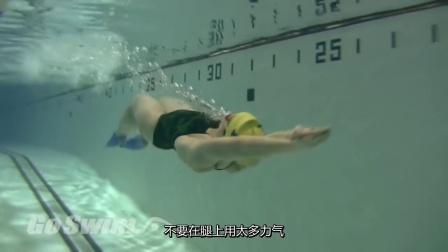 水下海豚腿教学 第三步