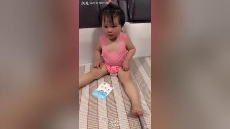 "妙歌一岁九个月区分""duck""和""chick""英语"