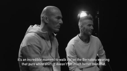 贝克汉姆和齐达内在欧冠决赛前交谈