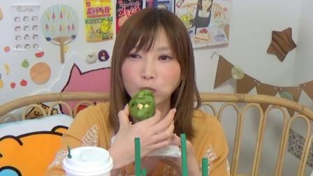 【木下大胃王】星巴克新品酸奶星冰乐等15种(4931千卡) @柚子木字幕组