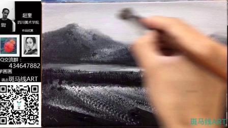 油画中级课程 油画黑白