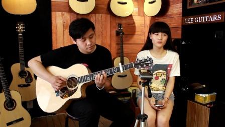 吉他弹唱 小时候(郝浩涵和玖兕)