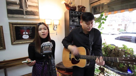 吉他弹唱 Rolling star(松叶潇和郝浩涵)