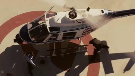 《银行匪帮》  假扮警卫智劫直升机 逃离案发现场