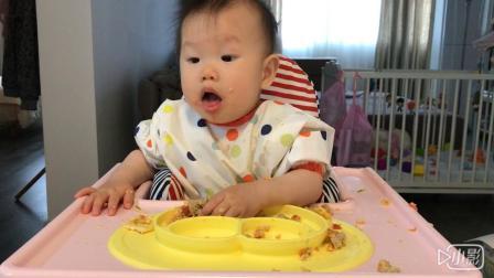【朱耿耿日食记9M13D】晚餐:芦笋➕香煎西红柿➕山药香菇鸡肉丸➕蛋饼