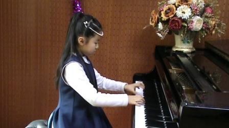 郑州美丽小学生钢琴即兴演奏《康康舞曲》