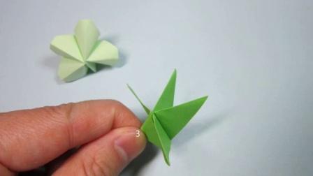 儿童手工折纸教程简单四叶草的折法步骤图解