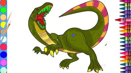 绘画出大恐龙,为了孩子们的学习