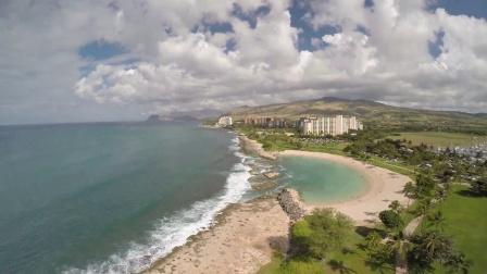 无人机航拍夏威夷海边美景