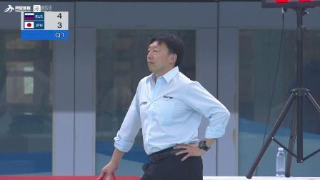 俄罗斯队22-10大比分击败日本队