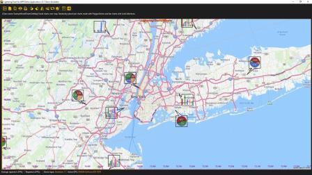 LightningChart地图实例演示