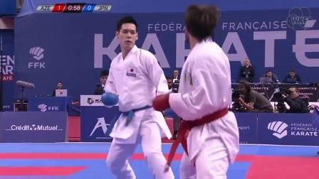 AGHAYEV vs NISHIMURA Open de Paris 2018 - Male Kumite -75 Kg, Final
